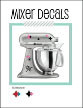 Decals - Atomic Vinyl Decal Stand Mixer Stickers - Pink and Black