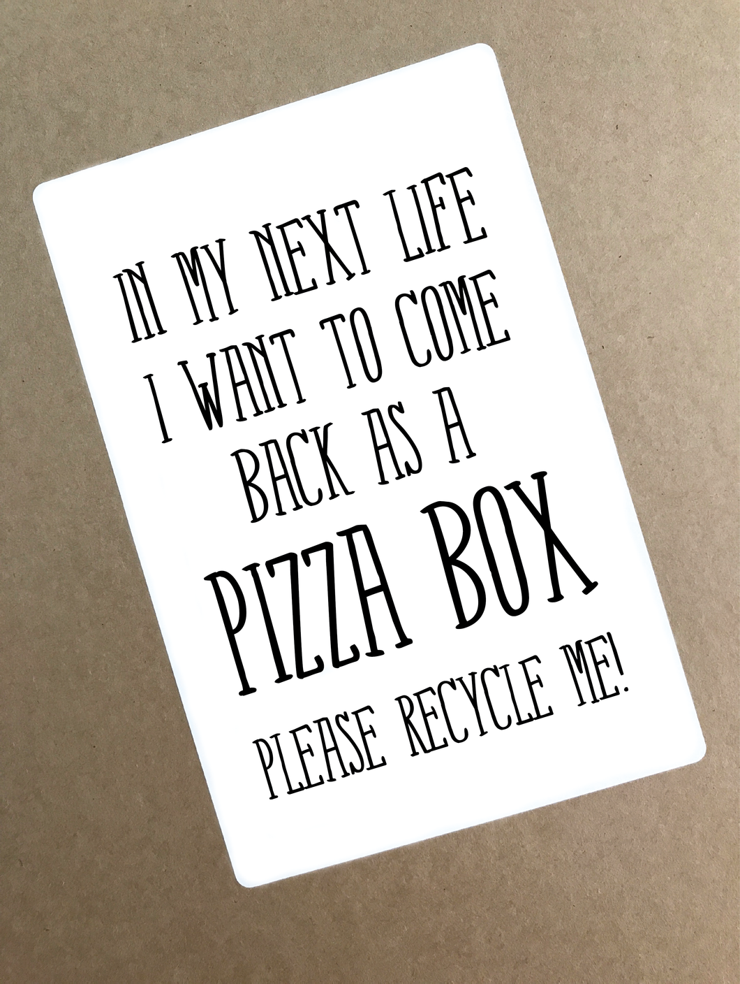 Digital File - Download Pizza Box Shipping Sticker. Recycled Box Sticker. DIY Printable Packaging