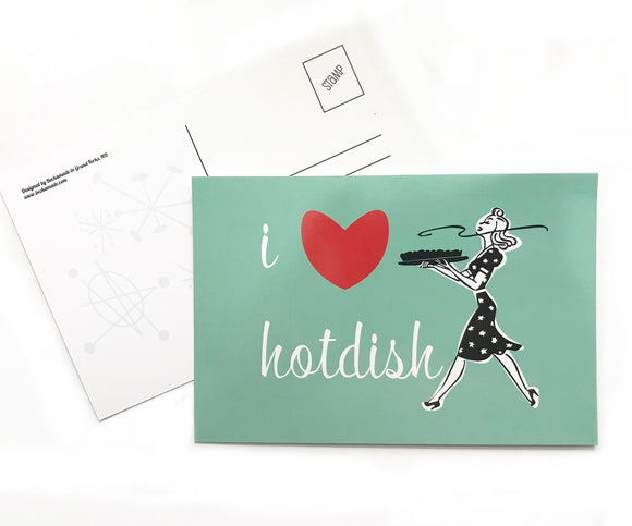 Postcard - I Love Hotdish