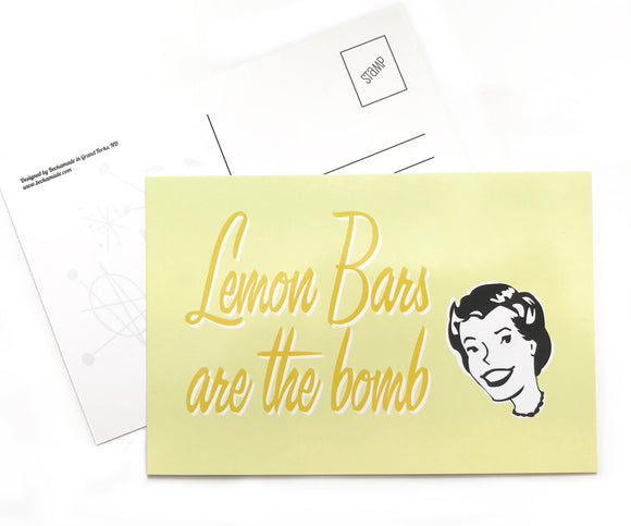Postcard - Lemon Bars