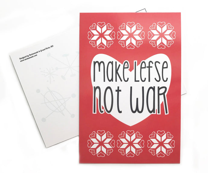 Postcard - Make Lefse Not War Postcard