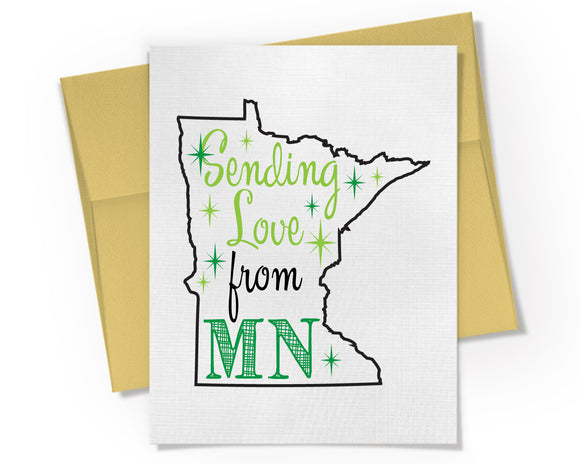 Card - Sending Love from Your State