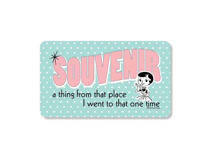 Souvenir Kitchen Magnet.