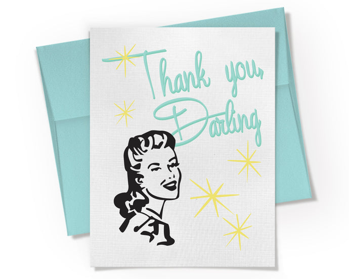 Card - Thank You Darling Card. Thank You Note.