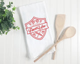 Towel - SALE - World's Finest Lefse Kitchen Towel. Red.