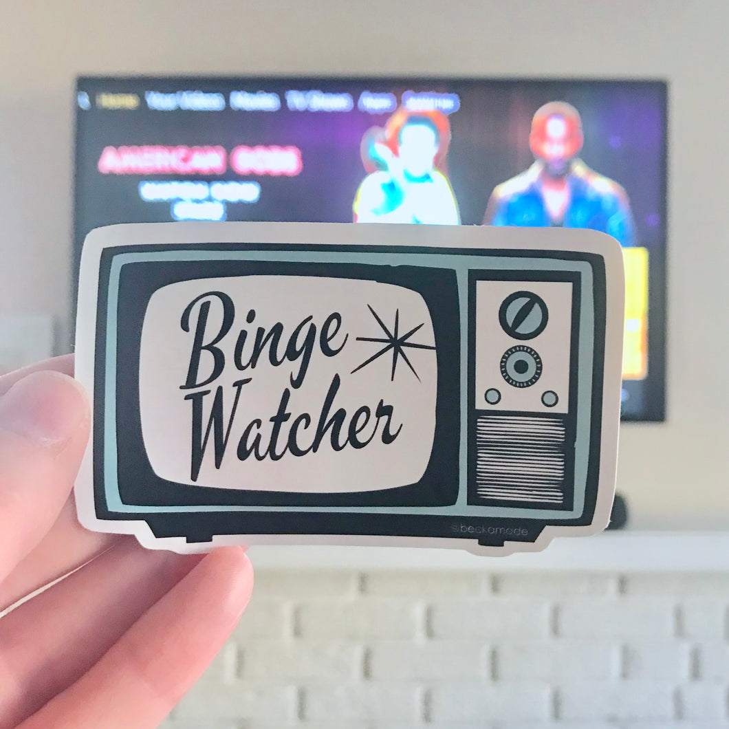 Binge Watcher Sticker