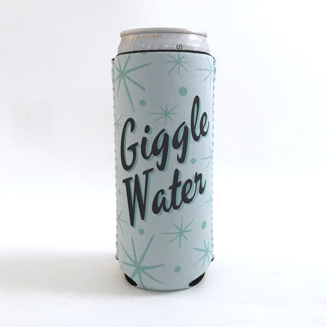 Cozie - Giggle Water. Hard Seltzer Skinny Can Cozie