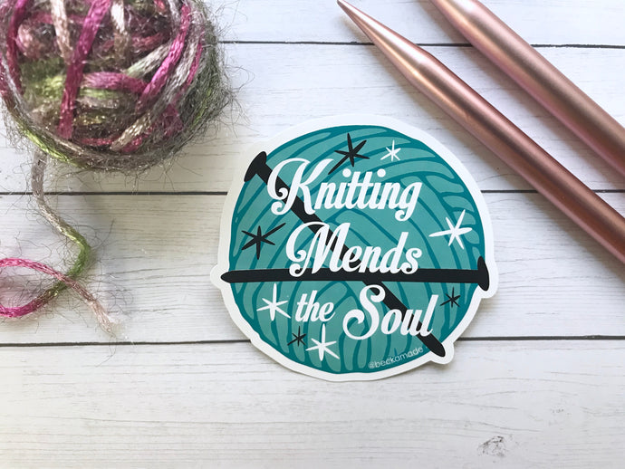 Sticker - Knitting Mends the Soul Sticker