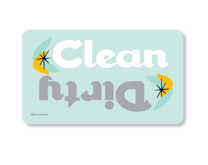 Clean Dirty Dishwasher Magnet. Clean Dirty Magnet. Clean Dirty Dishwasher Sign.