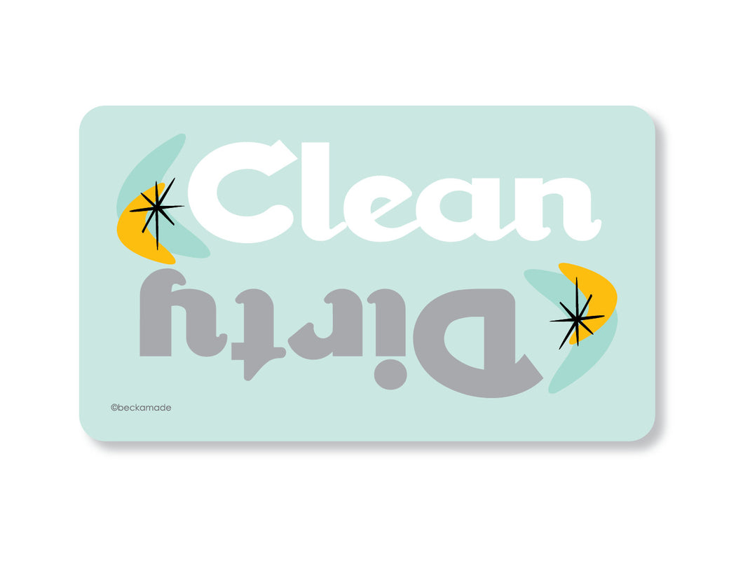 Clean Dirty Dishwasher Magnet.