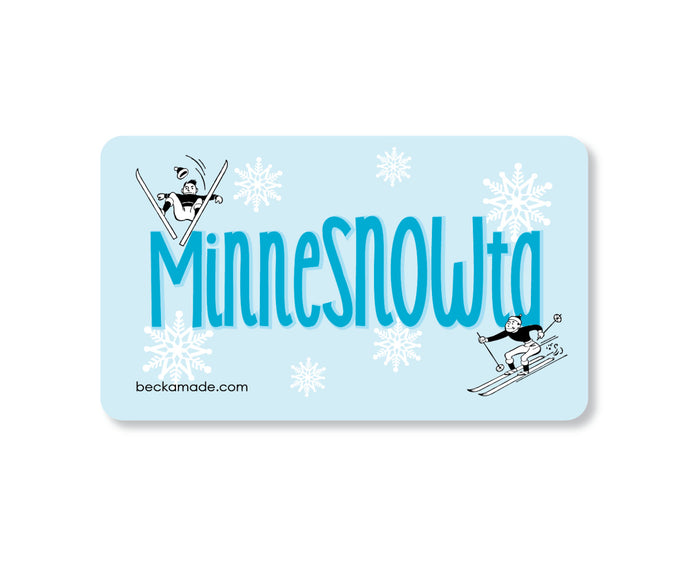 MinneSNOWta Retro Kitchen Magnet.