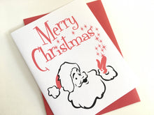 Merry Christmas Card. Santa Claus Card. Retro Santa Card. Christmas Magic Card.