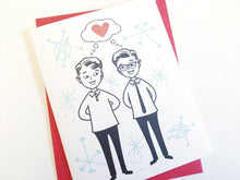 In Love Gay Couple Valentines Day Card. Gay Boyfriend Card. Gay Pride.