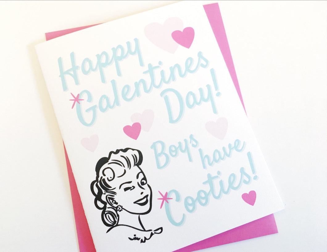 galentines day card valentines day with friends card for best