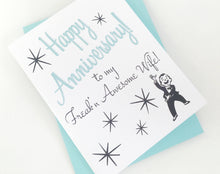Freakn Awesome Wife Anniversary Card. Anniversary Card for Wife.