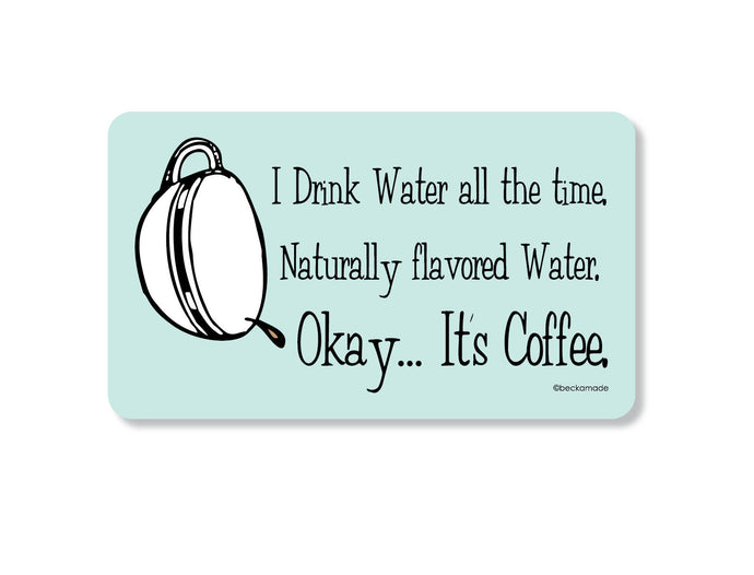 Coffee Natural Water Retro Kitchen Magnet.