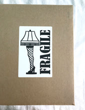 Digital File - Download Leg Lamp Fragile Shipping Sticker Image. Handle With Care Sticker. Fragile Label. DIY Printable Packaging. Shipping Supplies.