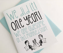First Anniversary Card. Lesbian. Gay. One Year Anniversary Card.