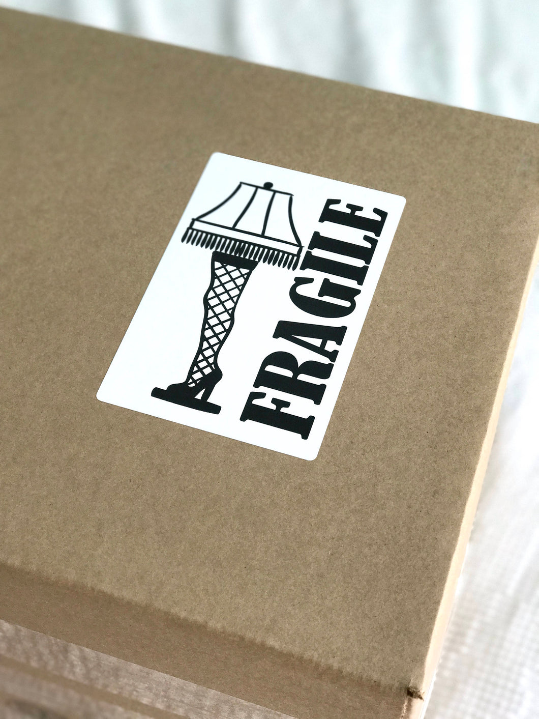 Download Leg Lamp Fragile Shipping Sticker Image. Handle With Care Sticker. Fragile Label. DIY Printable Packaging. Shipping Supplies.