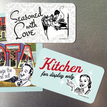 Magnet - Seasoned with Love Retro Kitchen Magnet.