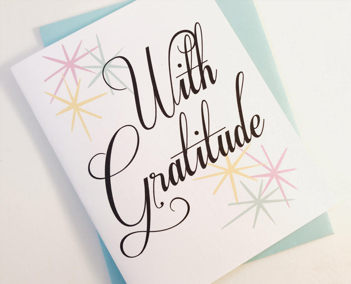 With Gratitude Thank You Card.