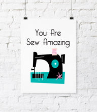Digital File - Sew Amazing Digital Download Print. DIY Printable Wall Art. Office Decor. Sewing Room Decor. Craft Room Art. Printable Wall Home Decor