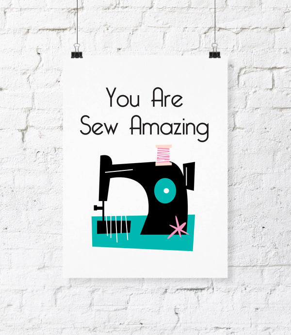 Sew Amazing Digital Download Print. DIY Printable Wall Art. Office Decor. Sewing Room Decor. Craft Room Art. Printable Wall Home Decor