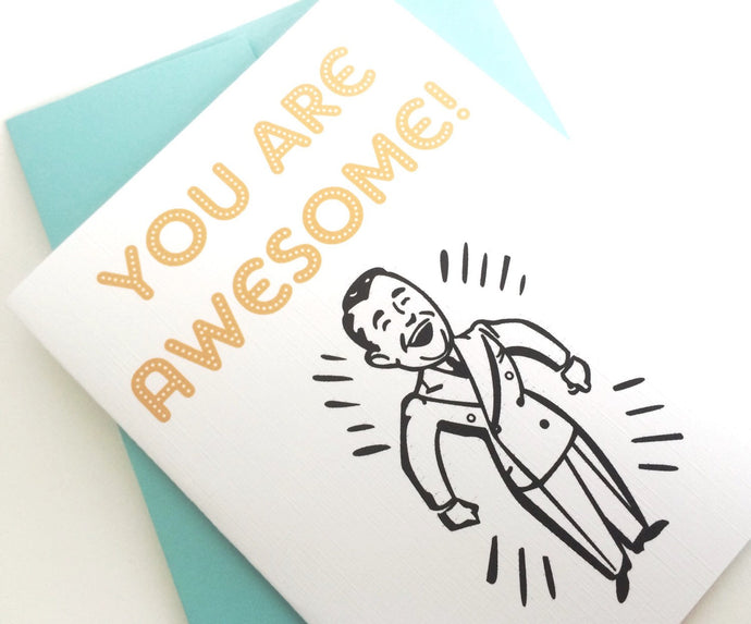 You are Awesome Card. Congratulations Gift. New Job Card.