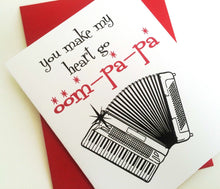 You make my heart go Oompapa Card. Valentines Day Card. I Love You Card.
