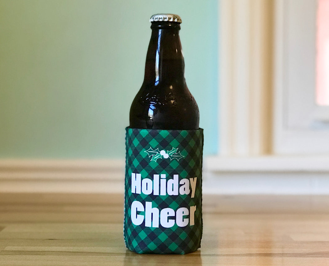 Cozie - Holiday Cheer Green Plaid - Regular Can Size