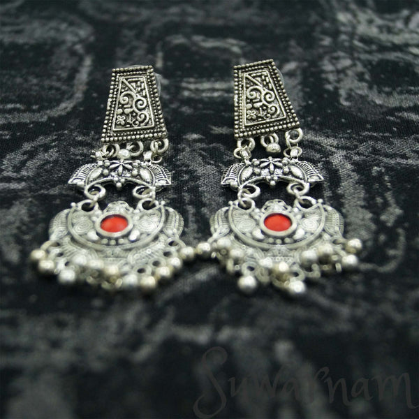 Stylish Oxidized Silver Earrings