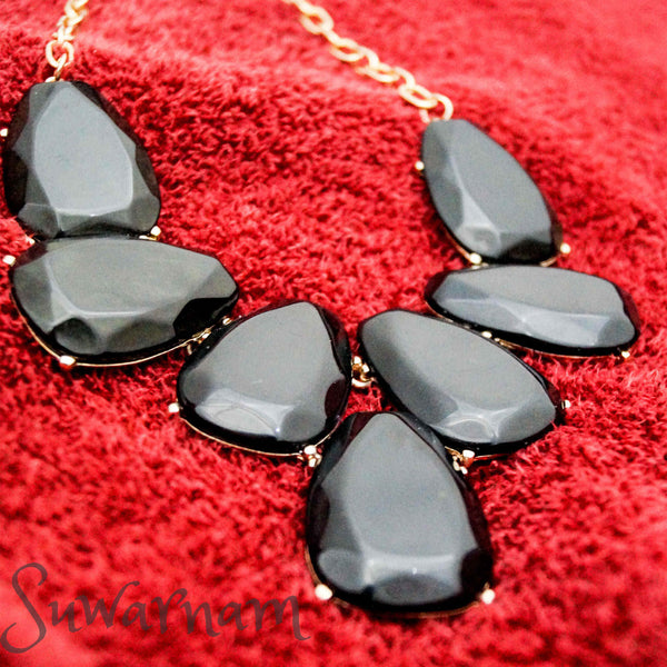 Beautiful Black Marble Necklace