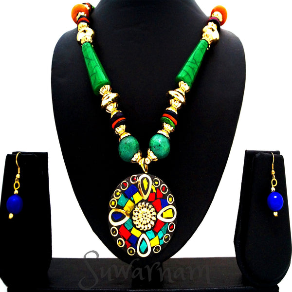 Gorgeous Green Mosaic Necklace