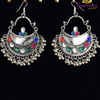 Light Colors Afghani Style Earrings