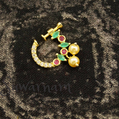Cute Nose Ring / Indian Bridal Nath | Suwarnam- Online Jewellery Store