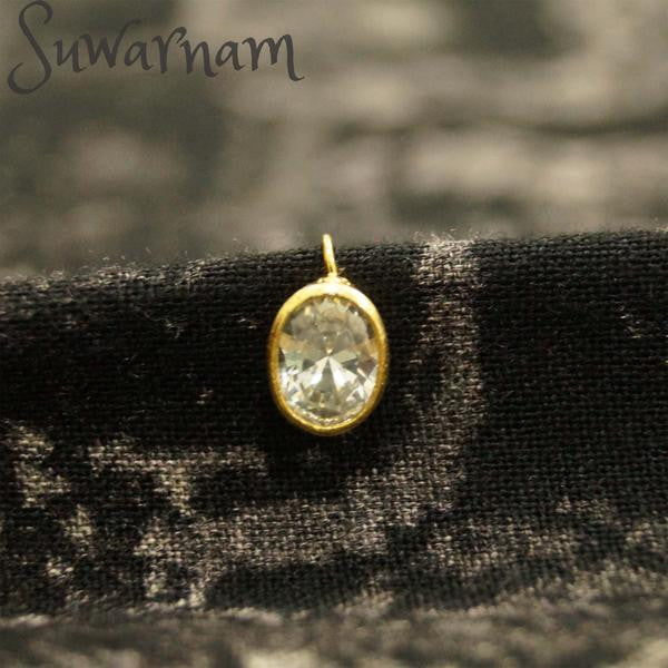 CZ Press Style Nose Ring / Indian Bridal Nath