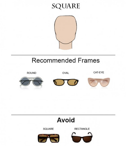 Square face shape: what sunglasses will look the best? We have the low
