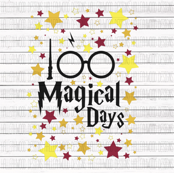 White Toner Laser Print  - 100 Magical Days