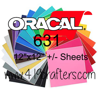 Oracal 631 Adhesive Craft REMOVABLE Vinyl Standard Colors 12