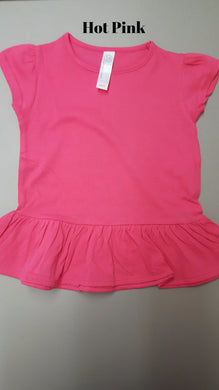 LAT Toddler Ruffle Bottom Tee