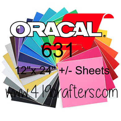 Oracal 631 Adhesive REMOVABLE Craft Vinyl Standard Colors 12