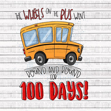 Sublimation Print - School Bus 100 Days