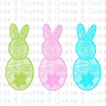 Sublimation Print -  Easter Bunny Trio 2