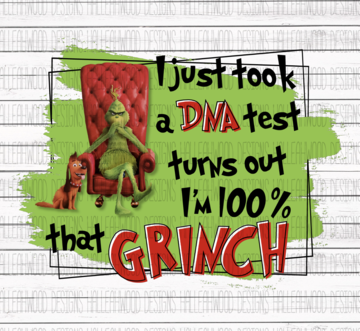 Sublimation Print - 100% That Grinch