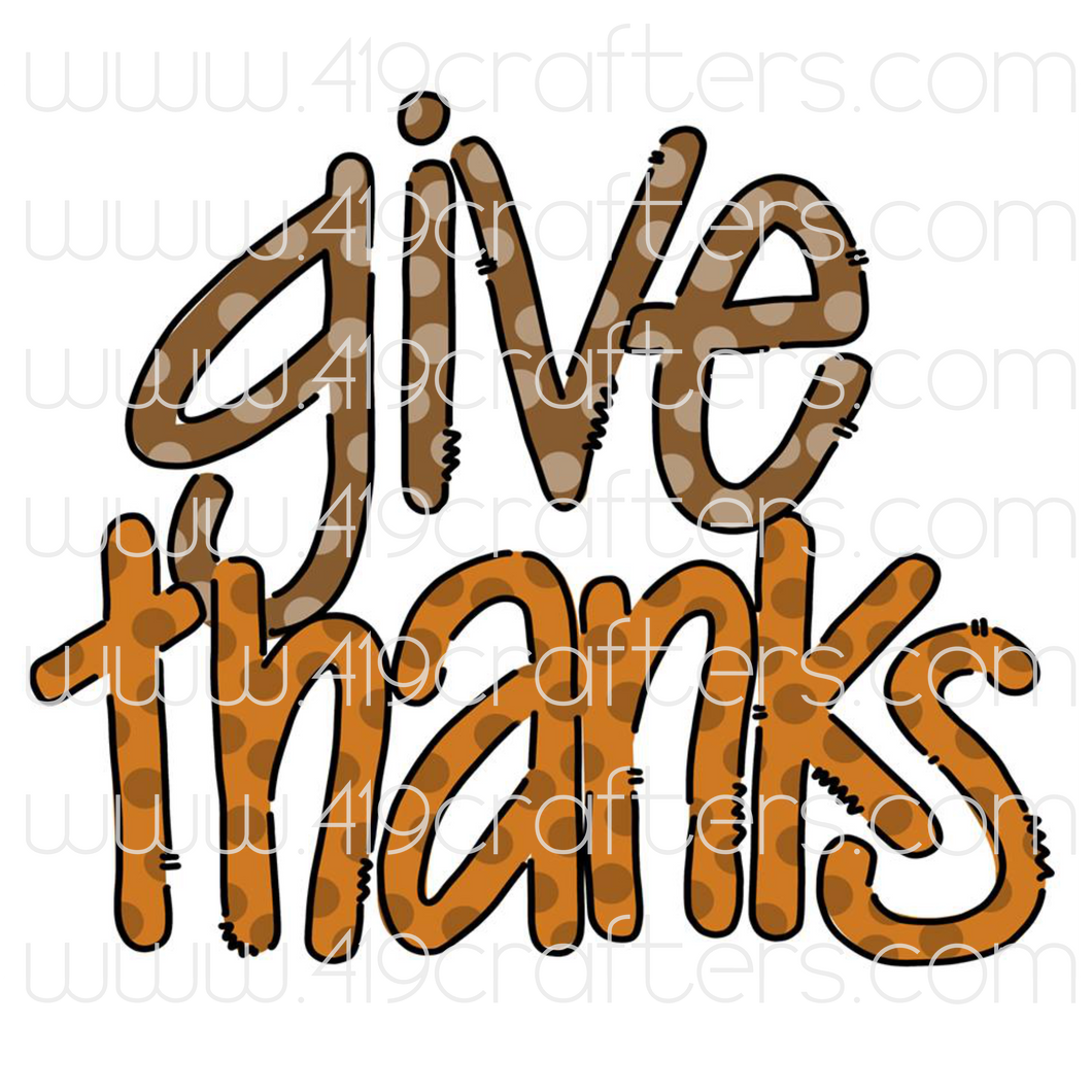White Toner Laser Print  - Give Thanks