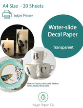 Clear Inkjet Water-slide Decal Paper