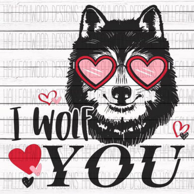 White Toner Laser Print  - I Wolf You