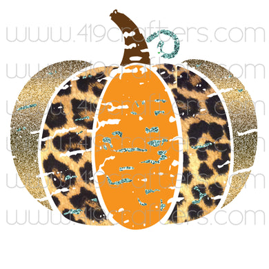 Sublimation Print - Leopard Pumpkin