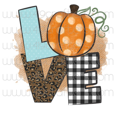 Sublimation Print - LOVE Pumpkin