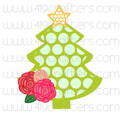 White Toner Laser Print - Polka Dot Christmas Tree